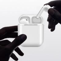 华为p30por蓝牙耳机通用无线运动苹果小米oppo通用双耳塞式iphone7/8X入耳式 I8升级款白色 三年换新