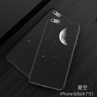 iphone6s手机壳苹果iphone6保护套磨砂潮牌男款女黑色6splus个性防摔i6全包硬6p文