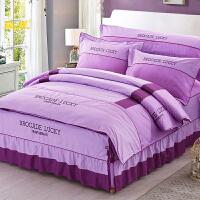 结婚庆床单被套四件套纯棉全棉床上用品欧式床裙款被罩式床品套件