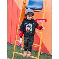 男童卫衣连帽童装儿童套头宝宝保暖上衣