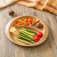 米鹿儿童三格餐盘可代替密胺餐具安全保鲜