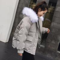 棉衣女短款2018新款冬装韩版ins面包服宽松bf学生棉袄外套女