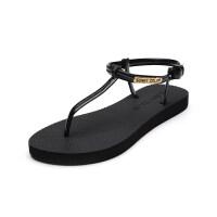 新款凉鞋女夏平底百搭韩版罗马鞋时尚简平跟度假海边沙滩鞋