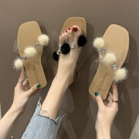 凉鞋chic拖鞋网红凉拖鞋女夏2019包头拖鞋女百搭外穿时尚平底穆勒鞋伊安