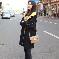 �L衣女中�L款2019春秋季�n版�@瘦��松大�a女�b大衣休�e薄外套 2XL 建�h147-165斤