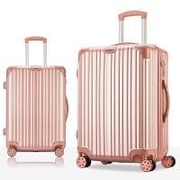 拉杆箱万向轮行李箱男女20寸旅行箱24寸登机学生26寸密码箱子28寸 8011玫瑰金 磨砂款