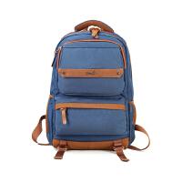 新款休闲男包包韩版潮流时尚女包双肩包背包电脑包中学生书包AWE