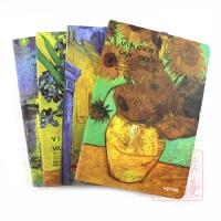 联华文具梵高艺术油画风复古彩绘硬皮本记事本日记本笔记本B5金边