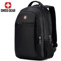 SWISSGEAR瑞士军刀双肩包 男女15.6英寸笔记本电脑多功能背包防泼水时尚休闲书包