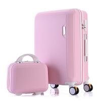 可爱子母箱行李箱女拉杆箱万向轮24寸26寸学生密码旅行箱韩版硬箱