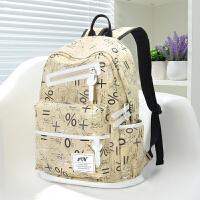 初中学生书包女双肩包韩版帆布校园百搭小学生高中大容量简约背包