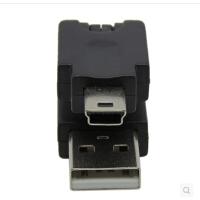 瑾宇360度旋转 USB转mini USB转接头 USB转mini 5Pin USB转换插头