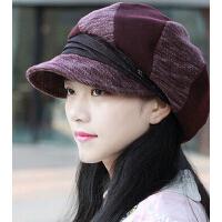 韩版潮流个性鸭舌帽时装帽 女士新款大贝雷帽八角帽