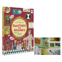 【首页抢券300-100】Usborne Questions and Answers about Art 艺术问答科普翻