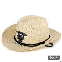 新款帽子防晒男女可折叠牛仔户外遮阳帽太阳帽沙滩大檐草帽