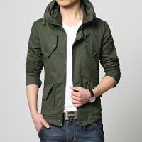 秋季新款男士外套夹克男青年休闲薄款韩版上衣连帽秋季衣服潮