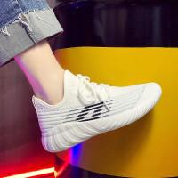 运动鞋女学生小白鞋2019春夏季新款飞织网面透气休闲鞋女夏韩版健身跑步鞋潮