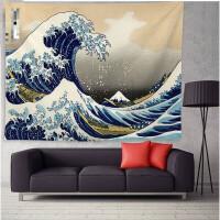 墙上装饰背景布日式海浪鱼浮世绘墙壁装饰品墙上挂件宿舍家居饰挂毯挂布背景布