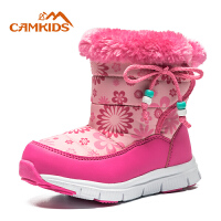 camkids垦牧儿童雪地靴2018冬季新款女童防滑保暖户外棉靴中小童