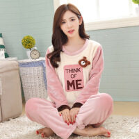 秋冬新款女士睡衣 秋冬季新款粉色长袖套头可爱时尚女士家居服 批发 SS 99003女