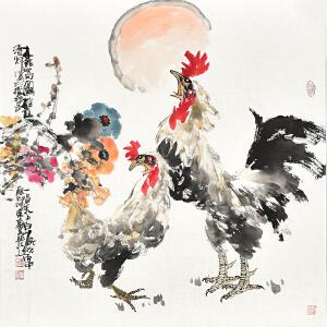 山东省美术家协会会员 李东献《报春图》gh04357