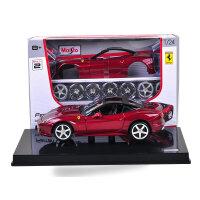 法拉利拼装跑车 仿真合金汽车模型组装车金属摆件
