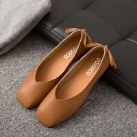 软底单鞋女黑色职业女鞋平跟皮鞋春秋舒适上班工作鞋平底