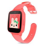 糖猫儿童电话手表GPS智能定位M1 通话手环学生手机插卡触摸屏 红
