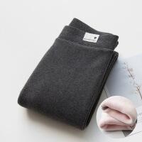 冬季纯棉加厚加绒打底裤女外穿高腰大码保暖裤显瘦黑色裤弹力长裤