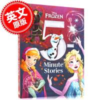 现货 冰雪奇缘 5分钟睡前故事集 英文原版 5-Minute Frozen 迪斯尼 儿童绘本故事 冰雪奇缘系列故事 安