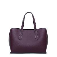 女士包包女2018新款潮单肩包女韩版时尚手提个性简约百搭斜挎 紫色小版 预售20天内发货