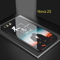 不忘初心华为nova3手机壳女nova3i情侣手机壳nova3e玻璃nova2s方得始终荣耀8x网红 Nova2S 不