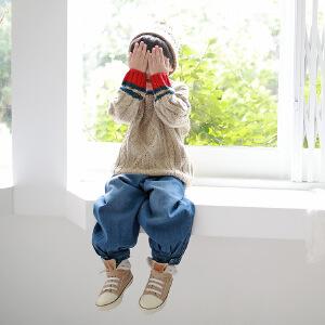 时尚宽松牛仔裤童装牛仔裤秋冬女中小童童装裤子