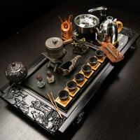 汉馨堂 茶具套装 功夫茶具茶盘乌金石套装整套四合一自动上水电磁炉