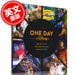 现货 One Day at Disney 在迪士尼的一天 英文原版 迪士尼官方52集纪录片配套书 精装 在迪士尼遇见全