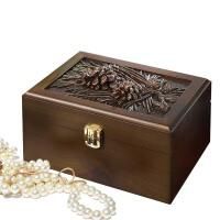 浪漫树脂木质珠宝盒首饰盒化妆品收纳盒