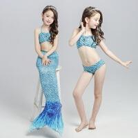 儿童美人鱼尾巴泳衣服装女童装幼儿比基尼分体游泳装温泉速干套装