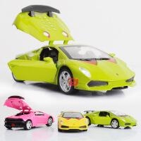 超星展示盒装仿真合金兰博基尼赛车儿童声光回力跑车汽车开模玩具