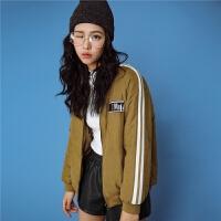 七格格工装女2018新款韩版短款chic冬季装棒球服外套棉衣袄潮