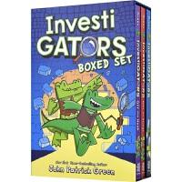 InvestiGators Boxed Set 鳄鱼侦查员3册盒装 英语桥梁书章节书 爆笑漫画书 独立自主阅读 英文课外