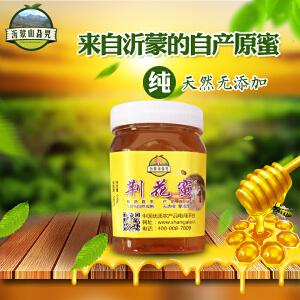 【沂蒙馆】山东特产原生态荆花蜜2017年新鲜蜂蜜500g净重包邮