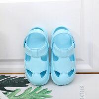 2019年春夏季新品孩子汽������鐾闲�防滑防撞耐磨平底包�^洞洞鞋男女童�胗�和��鲂��敉饴眯猩�┬蓍e鞋