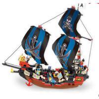 小鲁班益智拼装积木儿童智力玩具库克号帆船模型男孩6岁以上
