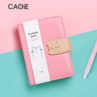 CAGIE/卡杰A6/a7手账活页本小清新日式手帐本笔记本子韩国创意记事本小随身迷你日记本创意计划本内芯可替换