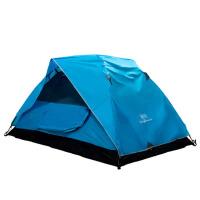 户外双层帐篷3-4人防风 野外露营家庭帐篷