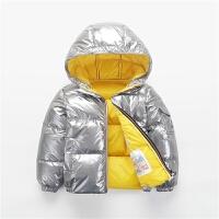 儿童太空银色男女童宝宝面包服中小童冬装亮面外套