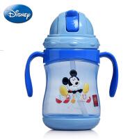 迪士尼正品PP塑料杯 360ml儿童雅趣双手柄学饮杯 可爱吸管杯