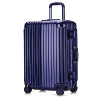 2018新款旅行箱铝框拉杆箱行李箱登机箱托运箱万向轮海关锁ABS+PC男女通用