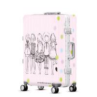 2018新款儿童卡通卡通女士拉杆箱行李箱旅行箱万向轮密码箱学生子母箱