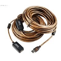 usb延长线10米 USB2.0延长线 10米带信号放大器 无线网卡数据线 USB延长线 褐色